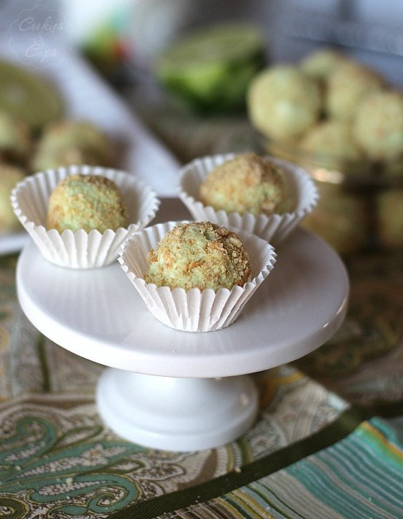 Key Lime Pie Truffles | Cookies and Cups