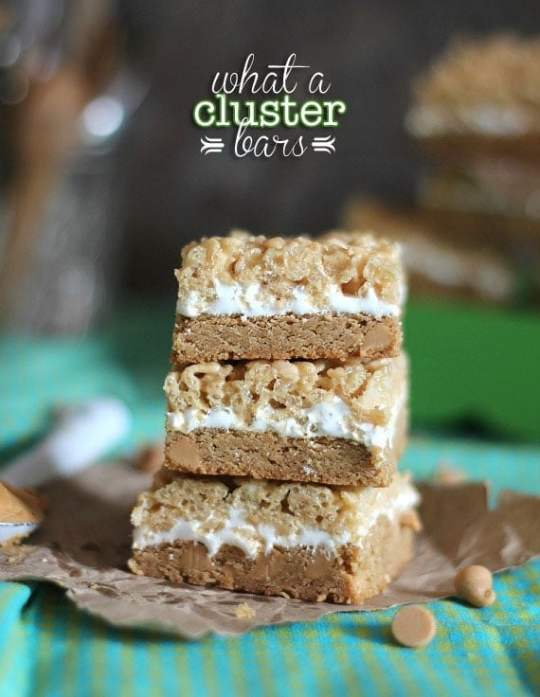 What A Cluster Bars | Cookies and Cups