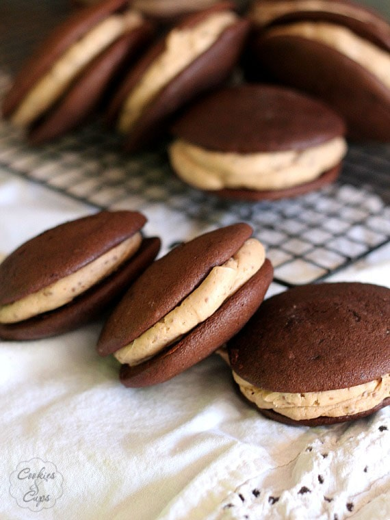 Peanut Butter Cup Blizzard Whoopie Pies