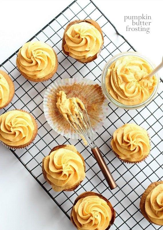 Pumpkin Butter Frosting | www.cookiesandcups.com