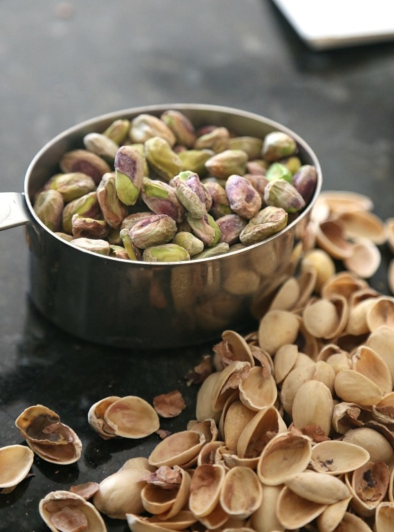 Lots of Pistachios for Pistachio Pudding Cookies!