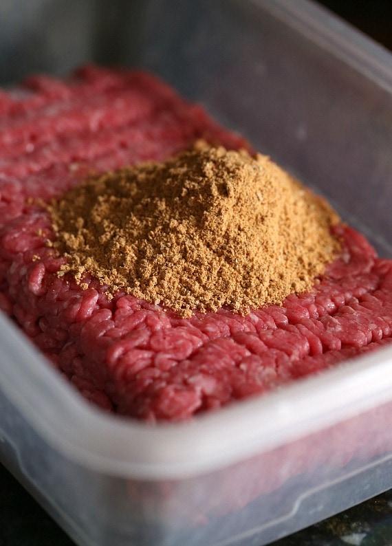 Ground beef and taco seasoning