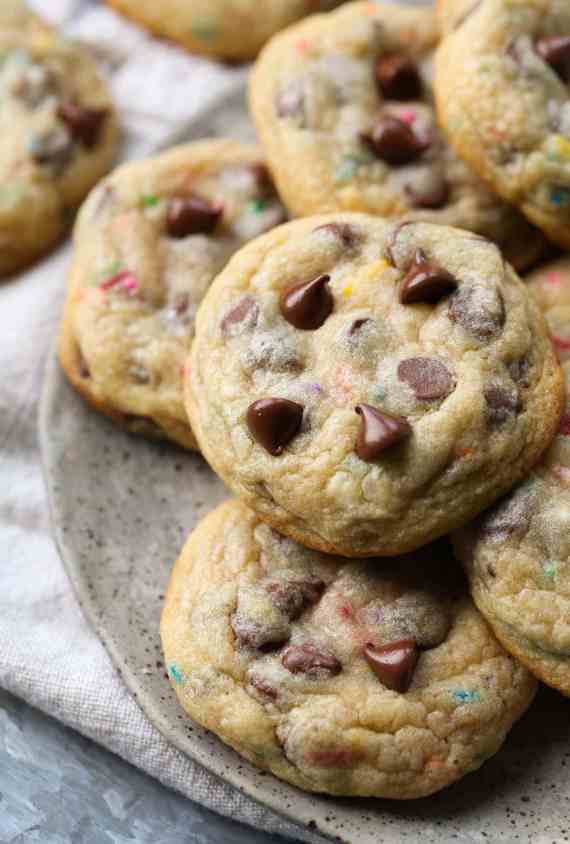 Frosting Filled Chocolate Chip Cookies