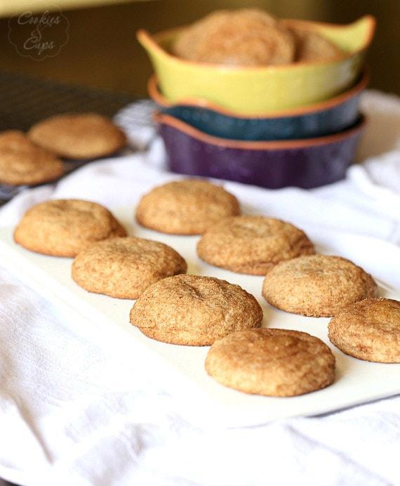Pumpkin Pie Spice Snickerdoodle cookies