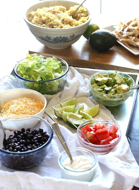 Easy Burrito Bowl set up!