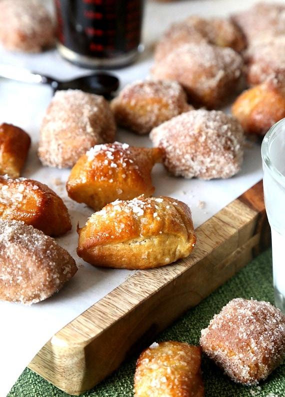 Soft Homemade Pretzel Bites. Easy to make and SO ADDICTING!