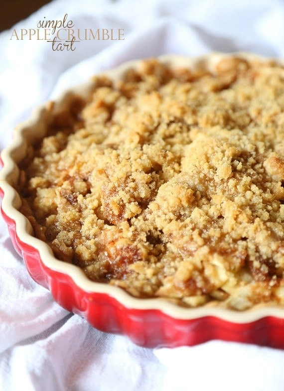 Simple apple crumble tart cookies and cups for Easy apple dessert recipes with few ingredients