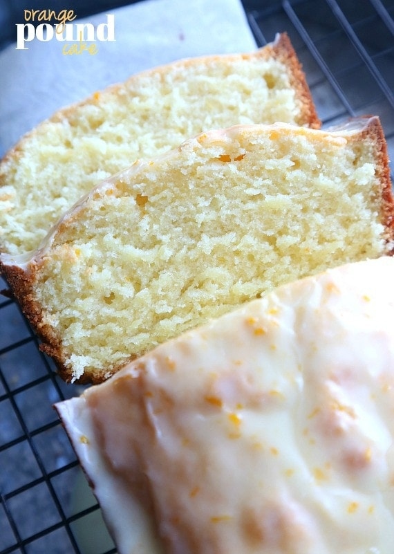 Orange POund Cake...a soft and fluffy pound cake that is flavored with fresh orange juice and zest. SO good!!