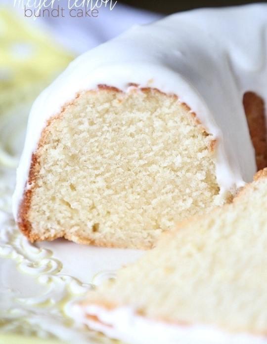 Meyer Lemon Bundt Cake...super soft and perfectly sweet!
