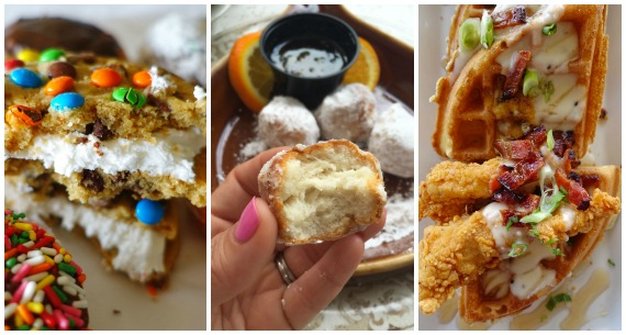 Cookies, Donuts, Beignets, and Chicken and Waffles