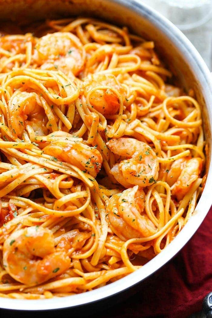 One Pot Shrimp Pasta Cookies And Cups