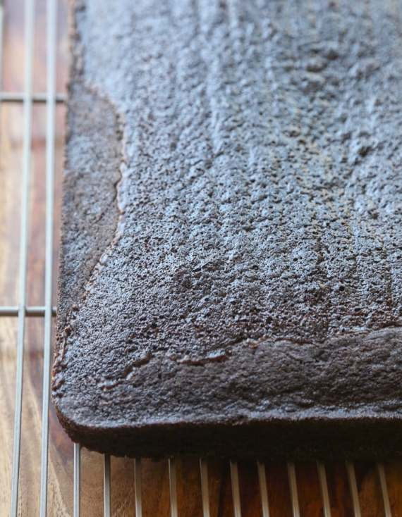 Frosted Fudge Cake ~ A full size spin on the classic Little Debbie Snack Cake!