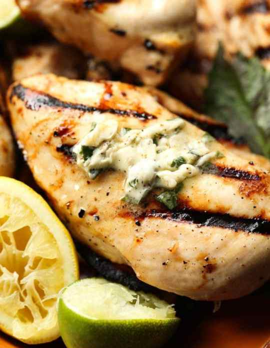 Honey Citrus Grilled Chicken with Basil Butter is next level delicious. SO many flavors all packed into one really simple dish! The bright citrus chicken paired with the rich savory butter is the perfect balance!