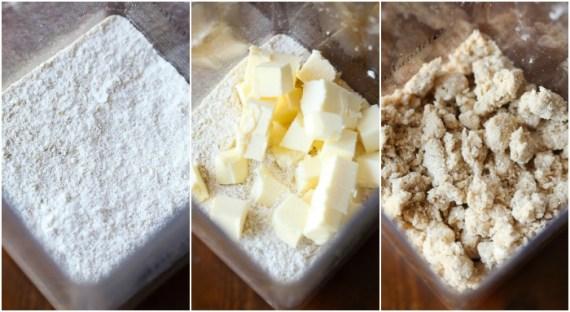 Making Blueberry Crumb Bars