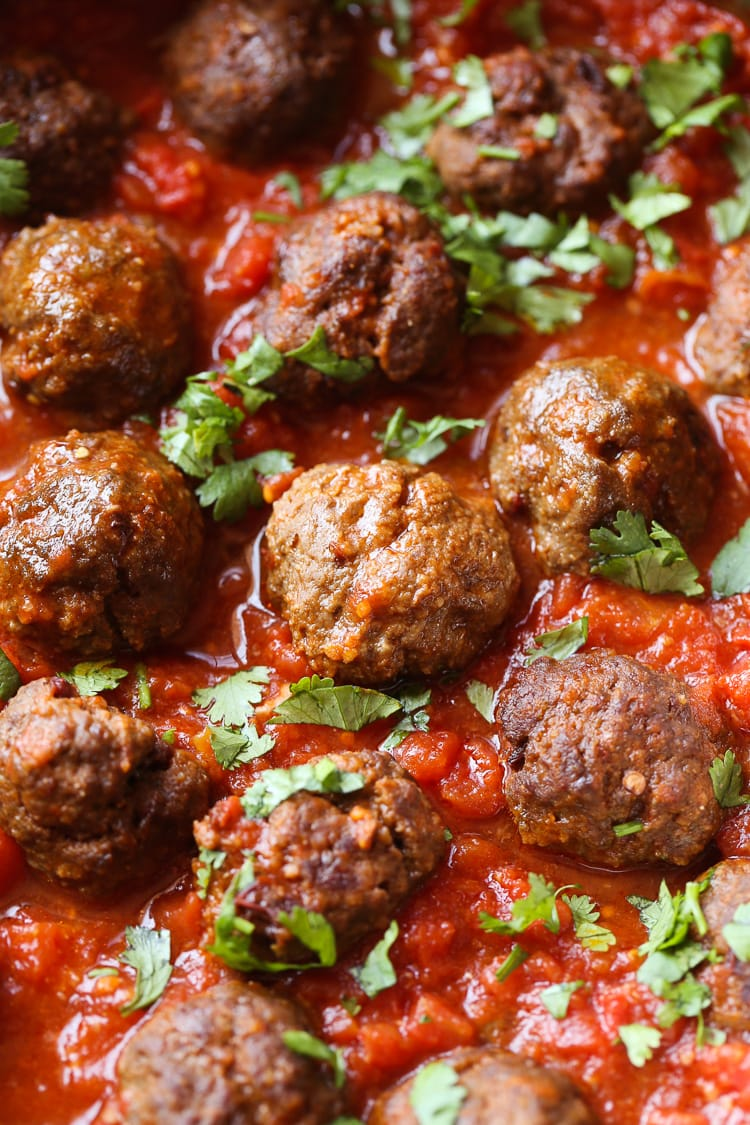 Chipotle Meatballs! A little spicy, a little smoky and a perfect spin on Taco Tuesday!