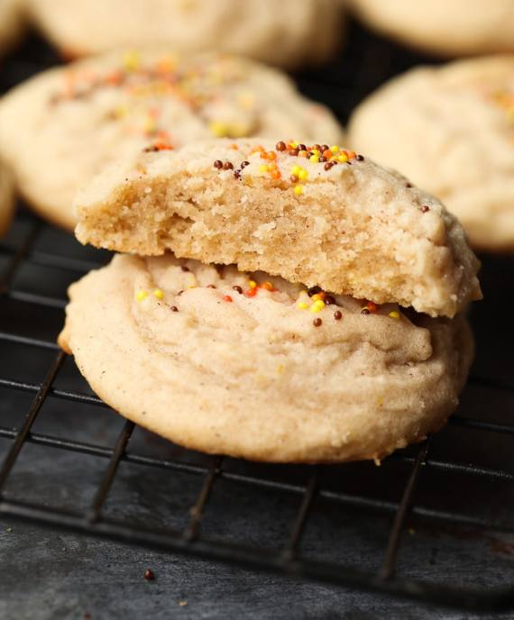 These Soft Amish Cinnamon Brown Sugar Cookies are thick, with a light, melty texture. Slightly crisp edges with a soft buttery center!