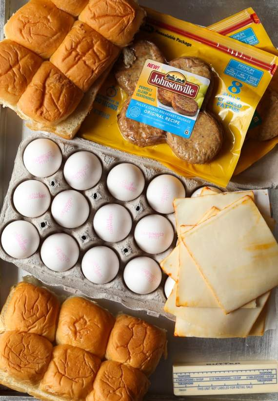 Maple Sausage Breakfast Sliders