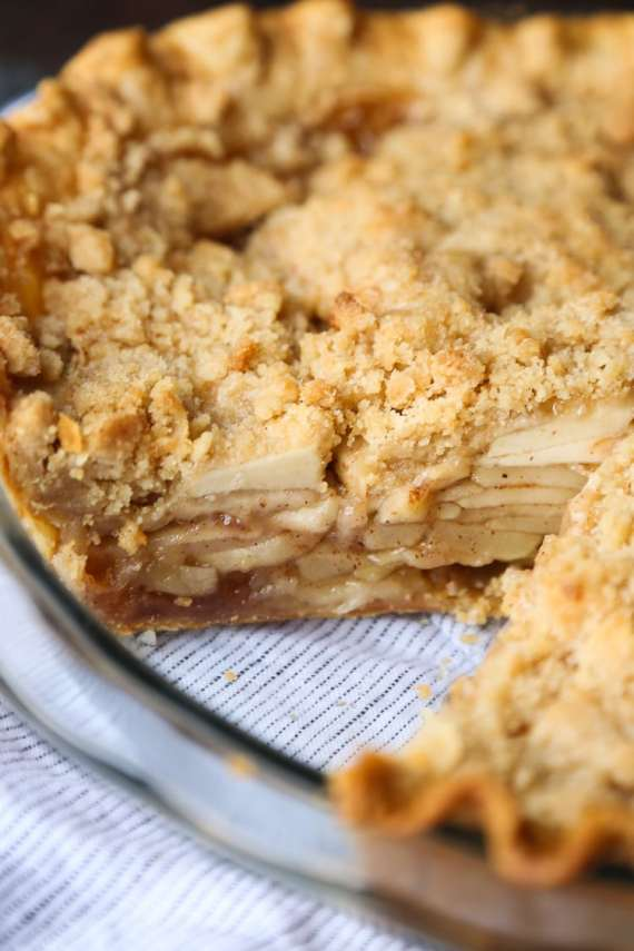 Chai Apple Pie is the perfect cozy twist on the classic! Buttery streusel makes it even better!