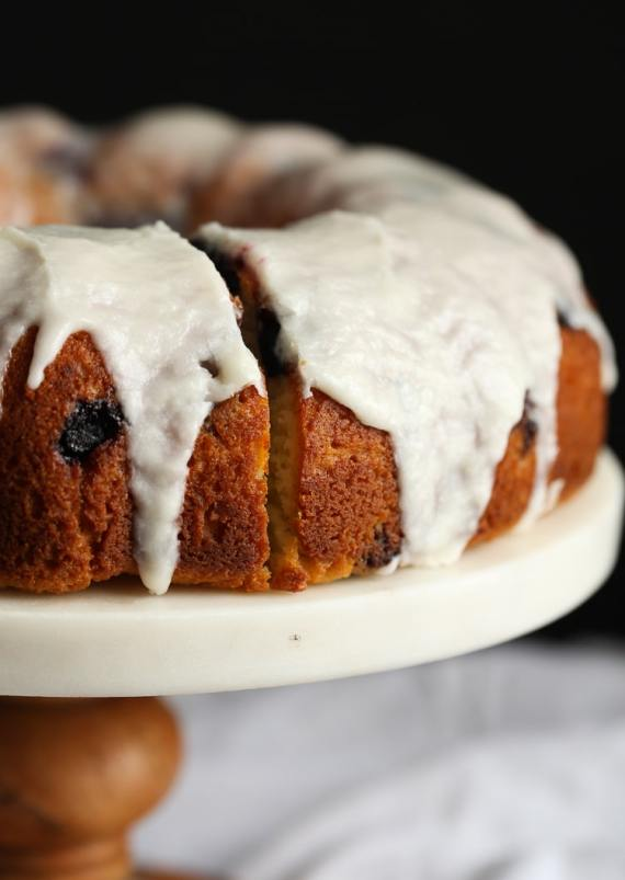 Super moist Sour Cream Blueberry Bundt Cake