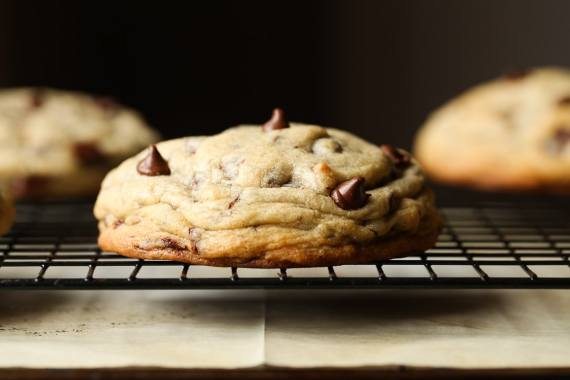 Half Pound Chocolate Chip Cookies! These are a perfect special treat to share, or a great bake sale cookie!