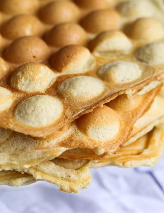 Easy Bubble Waffles!