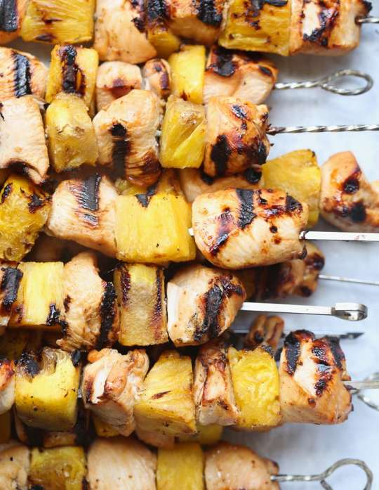 PIneapple Chicken Skewers! An easy, weeknight grill recipe!