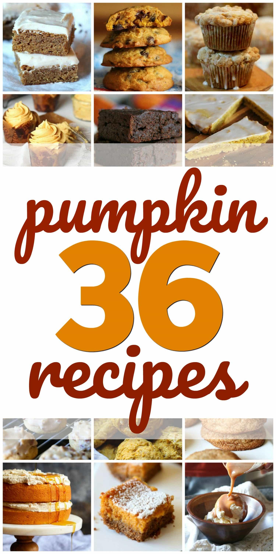 36 Pumpkin Recipes