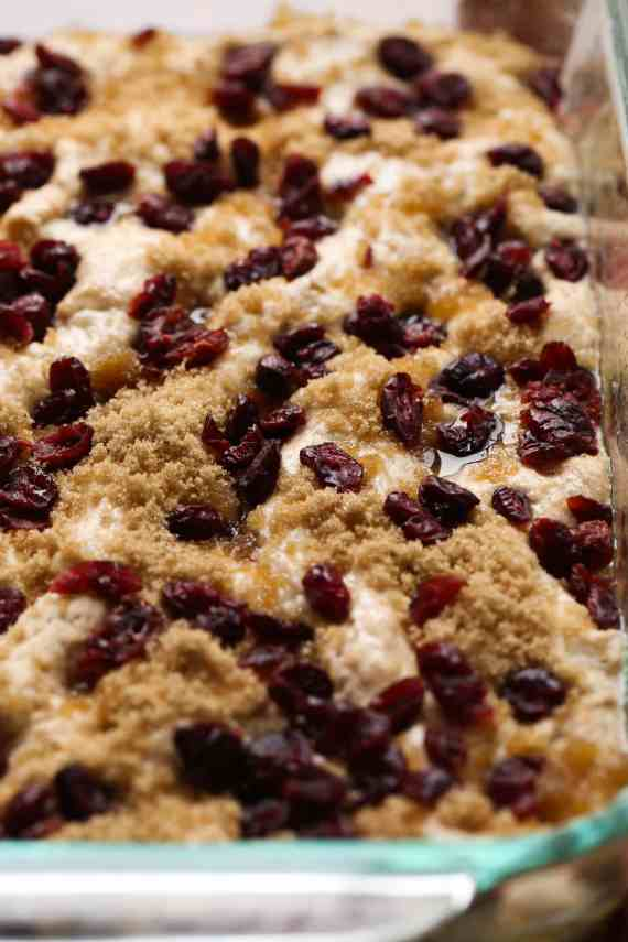 Cranberry Focaccia Bread is such a festive spin on classic focaccia bread! It's a little sweet, soft and totally festive!