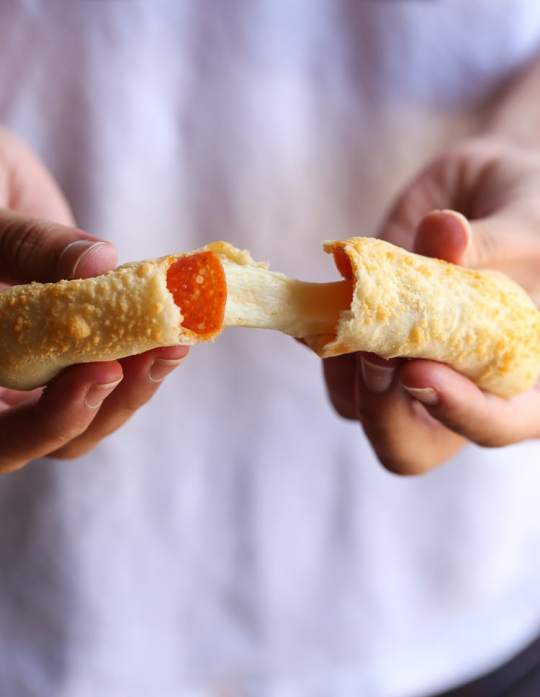 Cheesy Stuffed Pizza Breadsticks