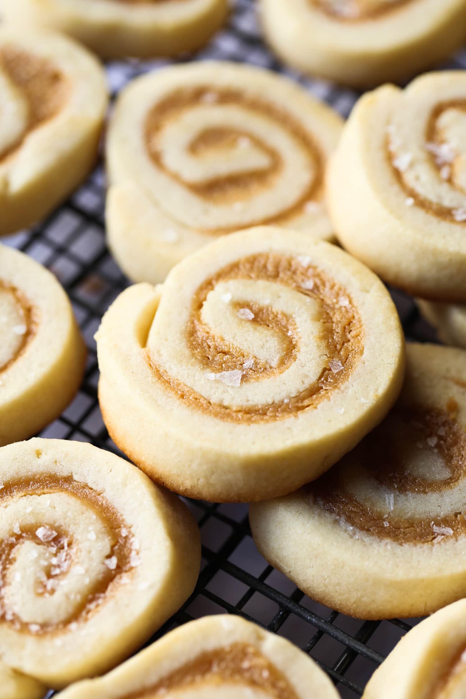 Salted Caramel Pinwheel Cookies