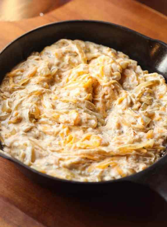 Cheesy Bacon Caramelized Onion Dip