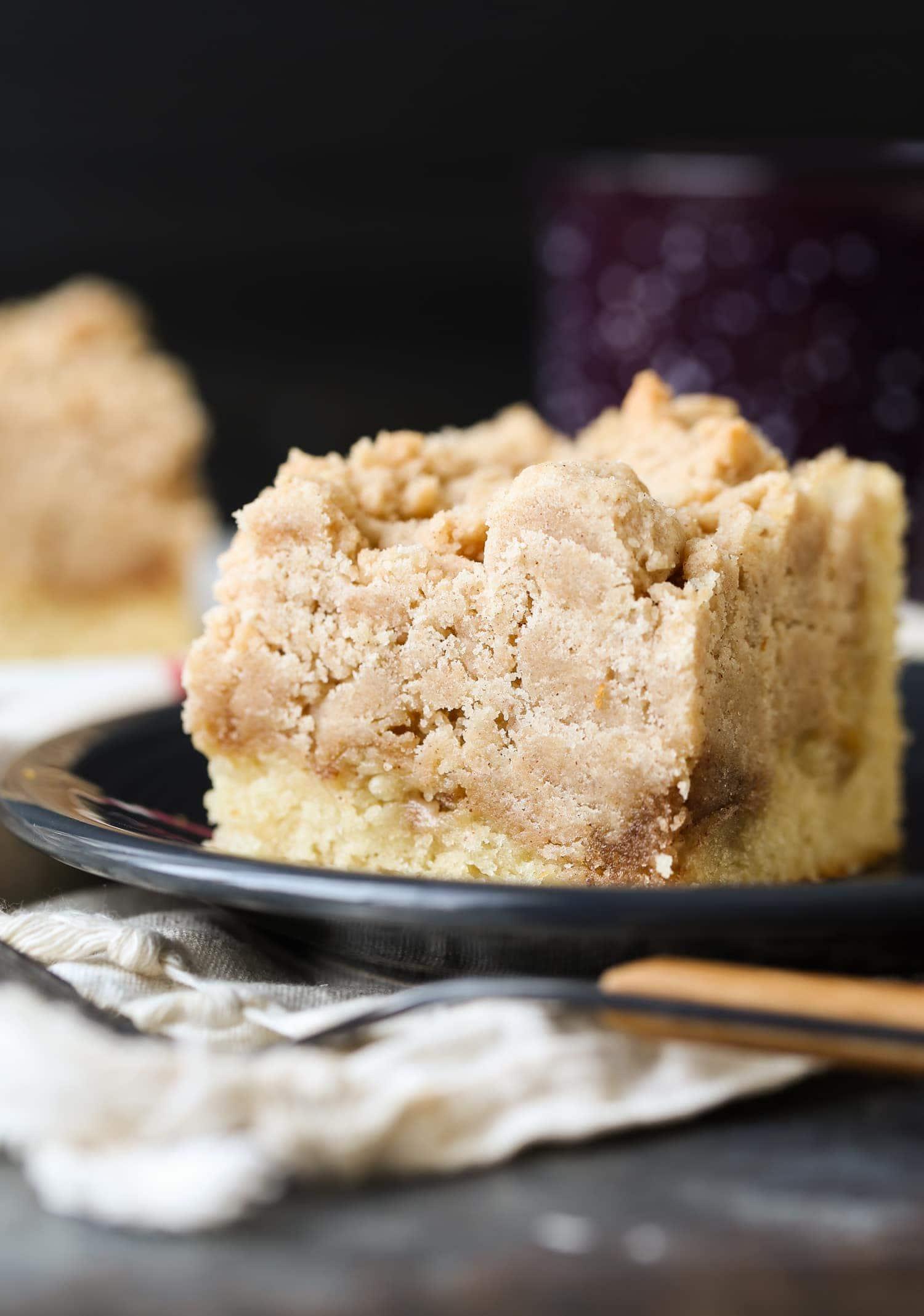 Double The Crumb Cake Cinnamon Swirl Vanilla Crumb Cake