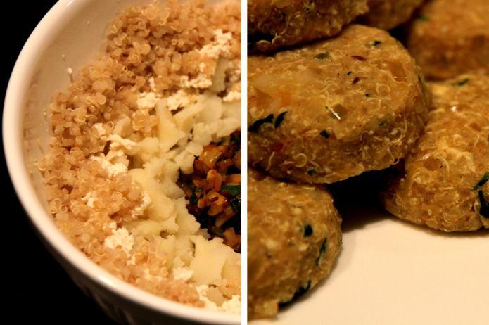 Quinoa Tikki - Ready to be roasted
