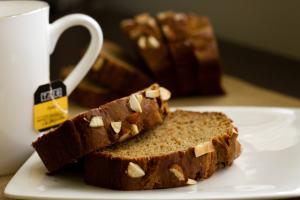Eggless Banana Almond Bread