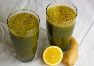 Homemade Green Vegetable Juice