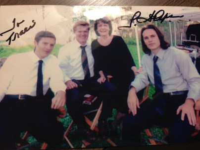 Grandma Saracen then offered this personal signed picture of herself with the boys. Bless.