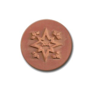 034-14 Rycraft 2014 Christmas Star Cookie Stamp | CookieStamp.com