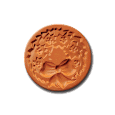 1017 Christmas Wreath cookie stamp | cookiestamp.com
