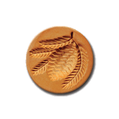 1022 Pine Cone cookie stamp | cookiestamp.com