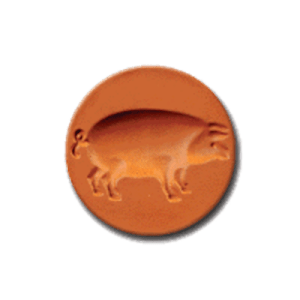 1035 Prancing Pig Cookie Stamp | CookieStamp.com