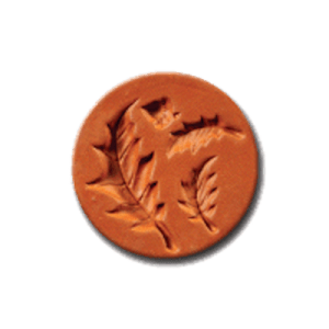 1044 Acorn & Leaves Cookie Stamp | CookieStamp.com