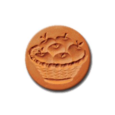 1046 Apple Basket Cookie Stamp | CookieStamp.com