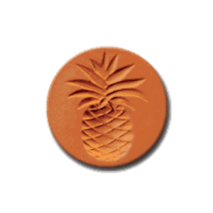 1055 Pineapple Cookie Stamp | CookieStamp.com