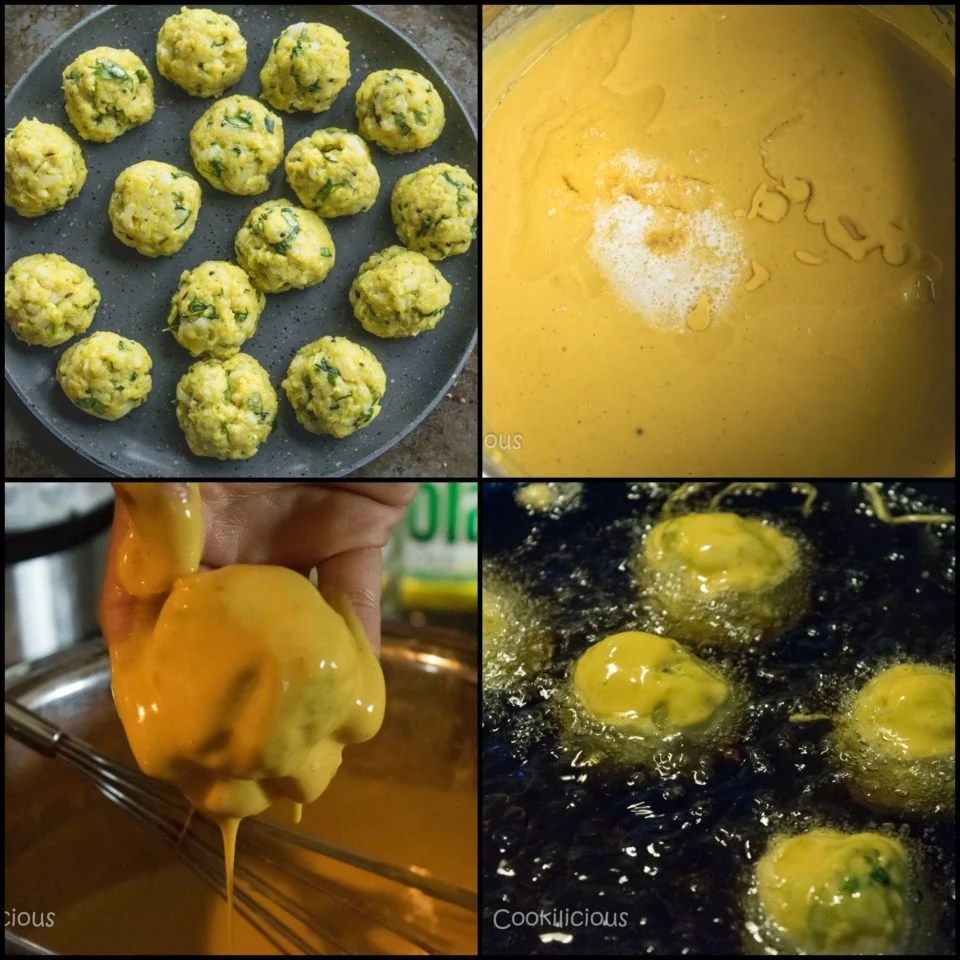 4 images showing how to make Bombay Special Vada Pav