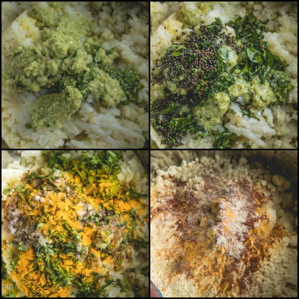 4 image collage showing the steps to make Bombay Special Vada Pav
