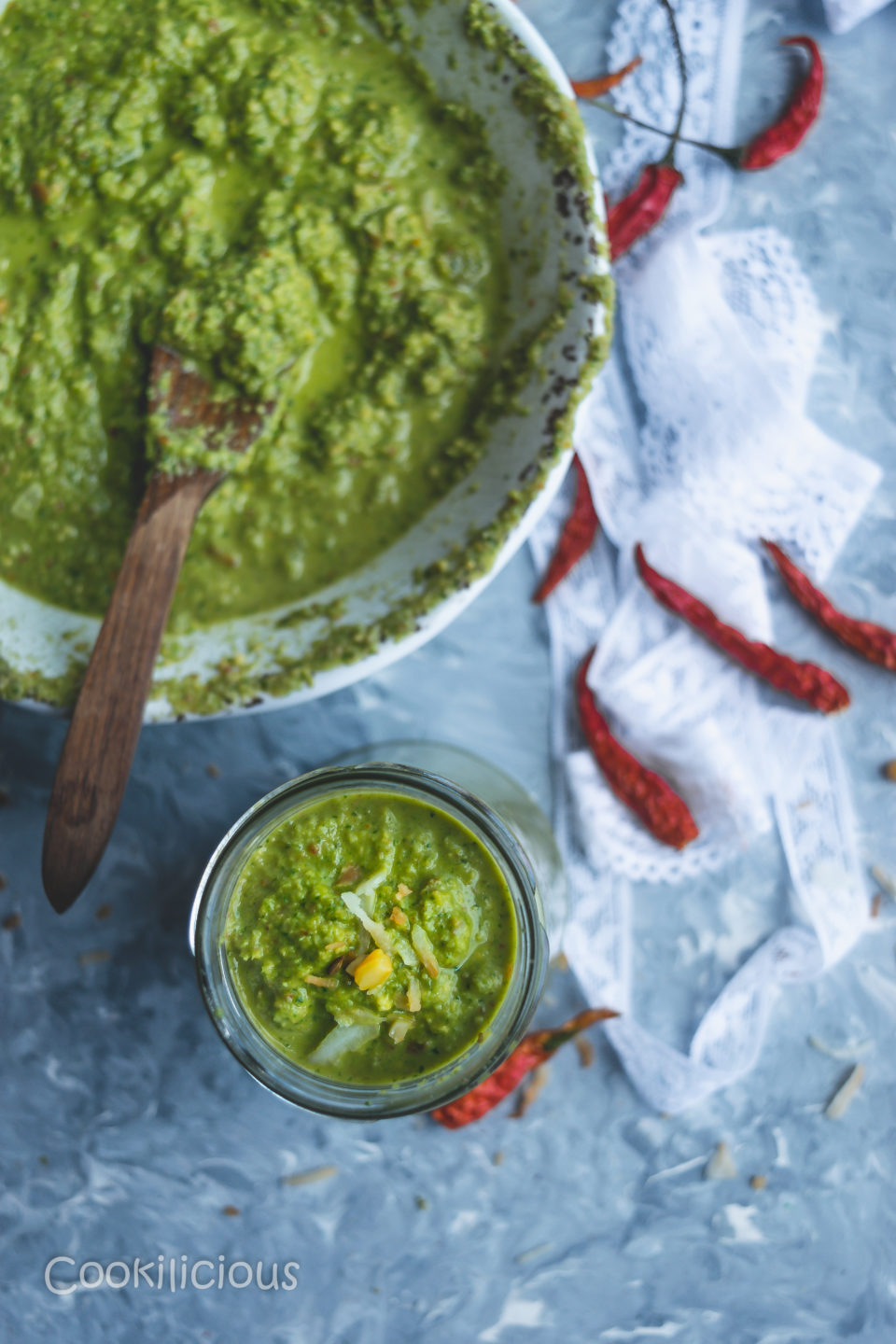 Indian Green Chutney with Leftover Lettuce LeavesCondiments