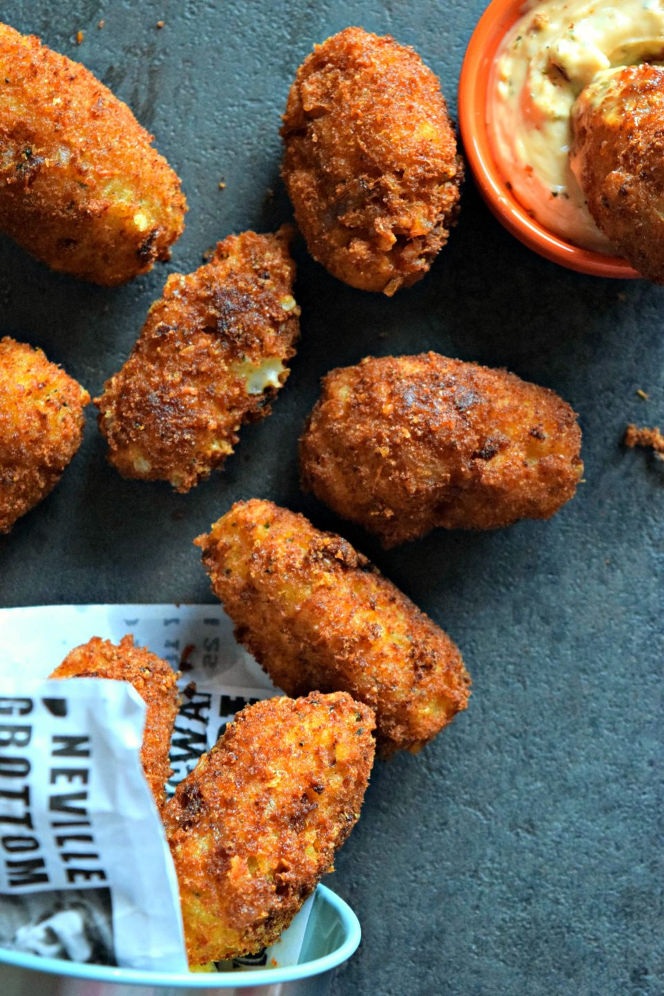 Stella Cheese, Rice & Methi Kebab With Tater Tot Stuffing is a spicy vegetarian party appetizer. It has flavors of India, Middle East & Mediterranean. A fusion recipe for all!