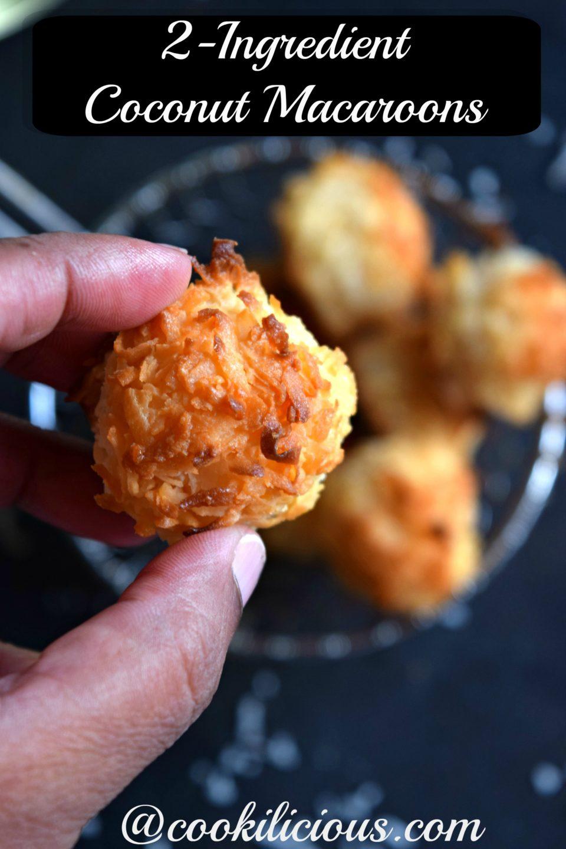 2-Ingredient Coconut Macaroons - Holiday Dessert Recipe!Desserts