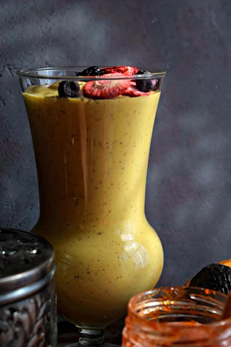 Creamy Vegan Mango Avocado Smoothie tastes so good that you won't believe it. It's extremely nutritious, delicious & a great way to kick-start your day.