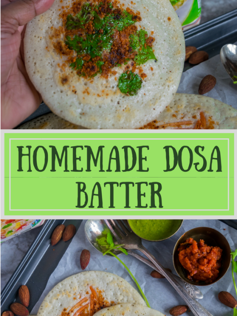 2 images of dosa made from fresh homemade dosa batter